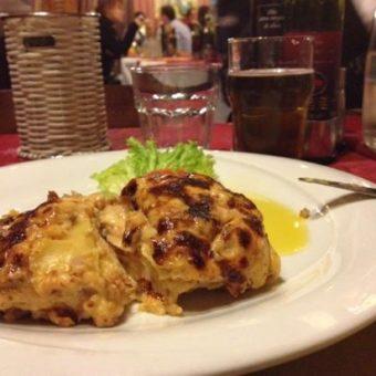 piatto di lasagna ristorante venezia